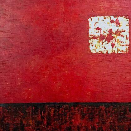 Sunburst - 90x145 cm, oil gold canvas