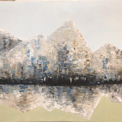 The empire of winter - 100x140 cm, oil canvas