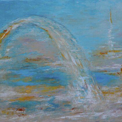 The bridge - 80x90 cm, oil canvas