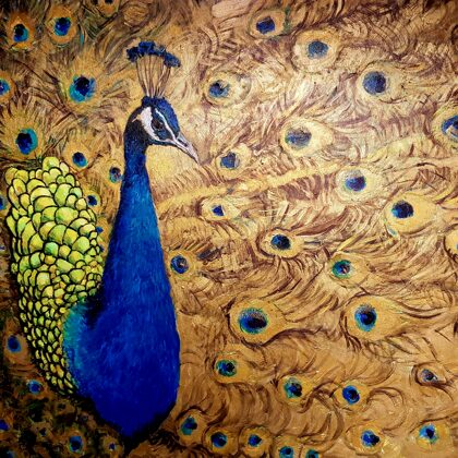 Peacock - 100x155 cm