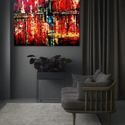 MM Flames of Agade - 120x120 cm - interior (edited photo)