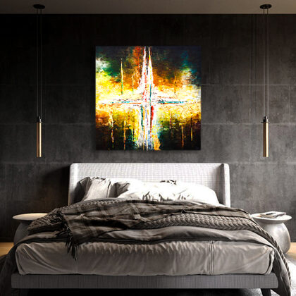 MM The beginning of time - 120x120 cm - interior (edited photo)