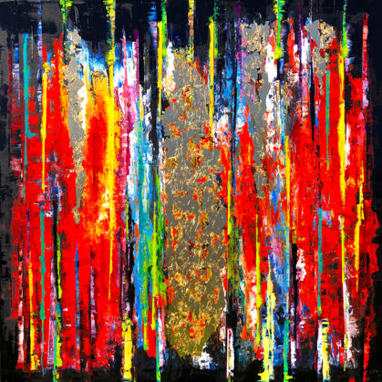 MM ...and God blessed the Earth - 120x120 cm
