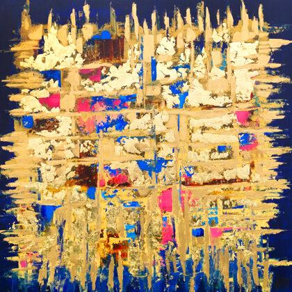 MM Blue-matrix - 100x100 cm