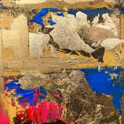 MM Blue-matrix - 100x100 cm - detail
