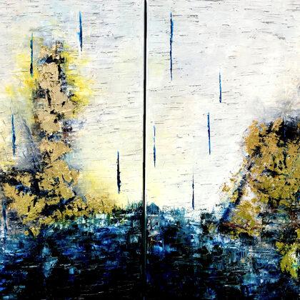 Vision of Ezequiel (diptichon) - 2x80x60 cm