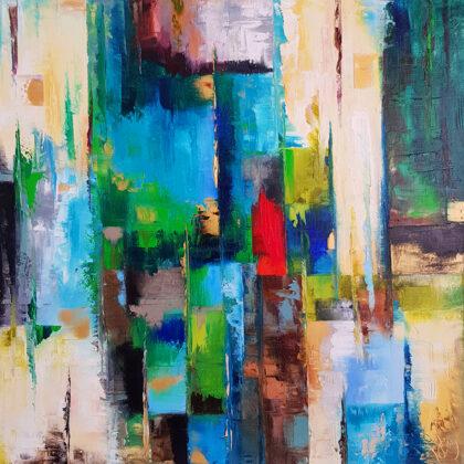 Oilve fields in Girona - 50x50 cm