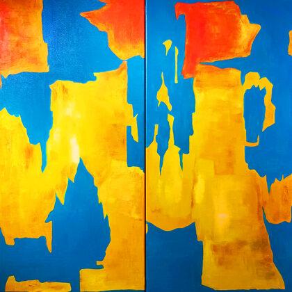 Costa Dorada (diptichon) - 2x100x50 cm
