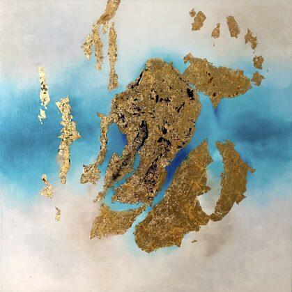 Assyrian treasure - 120x120 cm