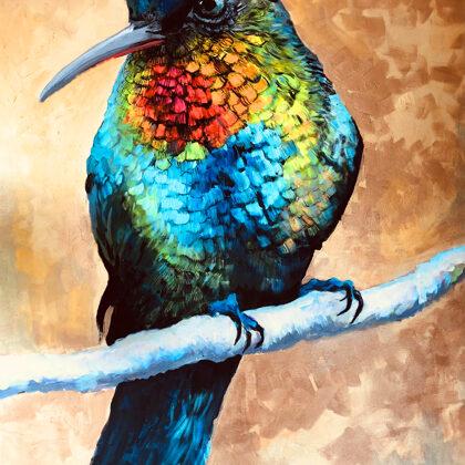 Hummingbird - 120x90 cm